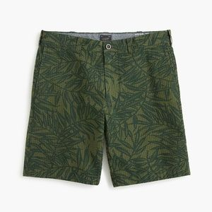 J. Crew | Palm Print Seersucker Shorts